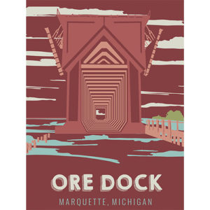 Ore Dock Marquette City Parks And Landmarks Poster Graphic Design By That Girl Amber Johnston