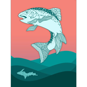 UP Upper Peninsula Yooper Shirt Poster Yoopers Fishing fly fishing marquette michigan graphic design that by that girl amber johnston