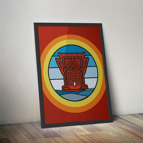 ore dock lines poster marquette michigan beer brewery brewing lake superior graphic design by that girl amber