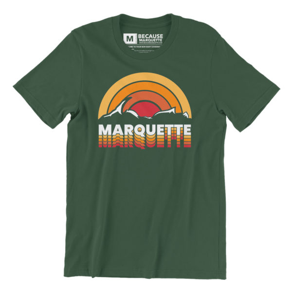 Retro Marquette Michigan Design Apparel Yooper Shirt Michigan Pure Travel