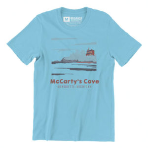 Mccartys cove summer beach poster marquette michigan beer restaurant bar graphic design by that girl amber johnston
