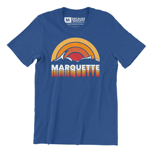retro marquette michigan rainbow someplace special poster graphic design that girl amber yooper shirt shirts yoopers
