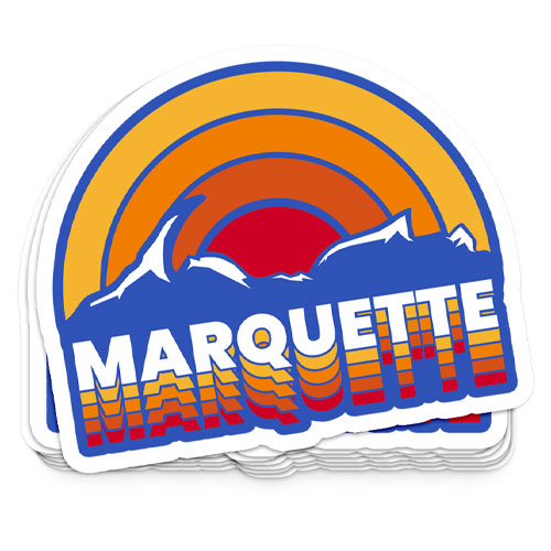 sticker retro marquette michigan rainbow someplace special poster graphic design that girl amber yooper shirt shirts yoopers