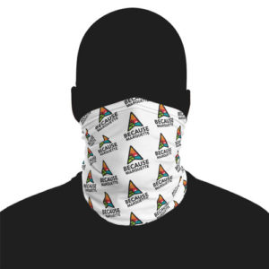 Because Marquette face mask ski mask neck gaiter