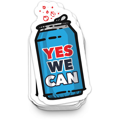 sticker yes we can shop by design at because marquette